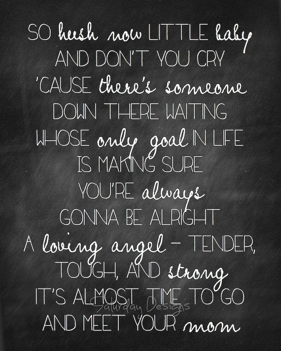 My Garth Brooks Tattoo Lyrics From The Dance I Love: Mom By Garth Brooks Song Lyrics Chalkboard Set By