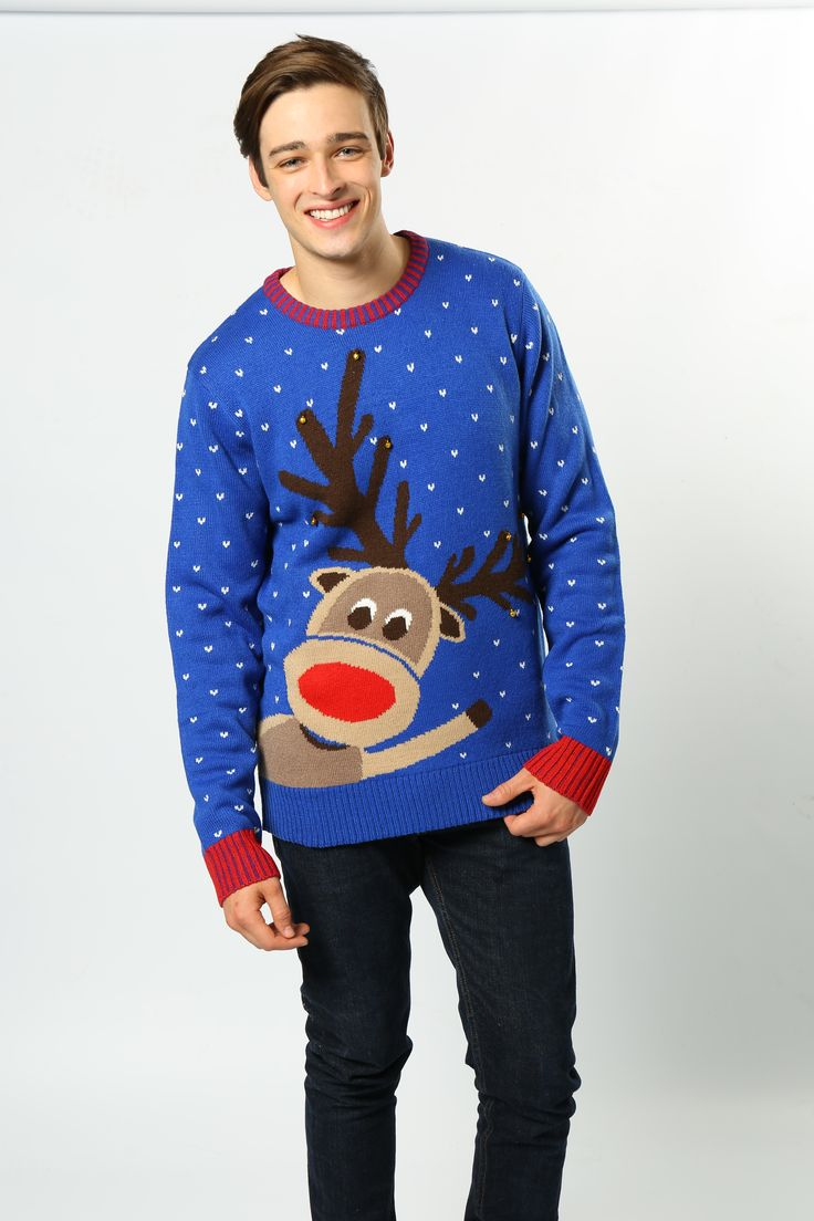 Are matching family clothes your thing? This Rudolph jumper - complete with jingle bells - is the perfect partner to our kids Rudolph jumper with 3-D pom pom nose! Have the full set for Mums, Dads, kids, Nans, Grandads......the whole family! #NoveltyJumper #ChristmasFashion #JingleBells #Rudolph #AdultsFashion #Wholesaler #FestiveClothing #MensClothing #WomansClothing #NathionalChristmasJumperDay