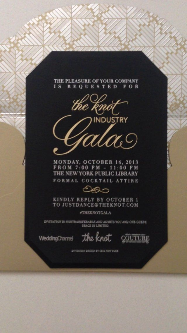 The Knot Industry Gala Invitations by Ceci New York - Invitation Reveal