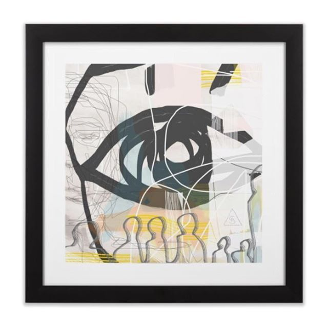 Available at www.seerue.com link in bio #christmasgiftideas #justsaying #art #digitalart #nycart #print #artprint #abstract #figurative