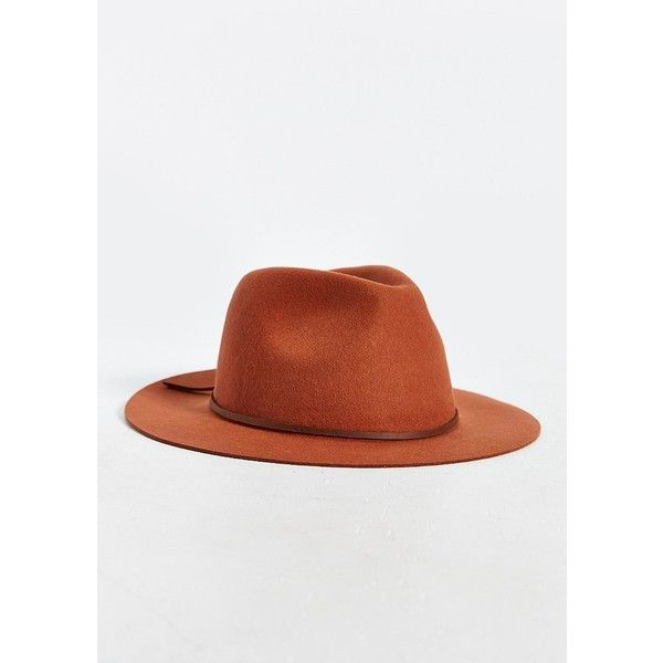 Brixton Wesley Wide Brim Fedora ($30) ❤ liked on Polyvore featuring men's fashion, men's accessories, men's hats, mens wide brim hats, mens fedora hats, mens floppy hats, mens wool hat and mens wide brim fedora hats