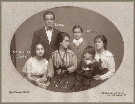 Família Oswaldo Cruz, foto de Lizzie Caswall Smith, The Gainsborough Studio, Oxford Street, London.