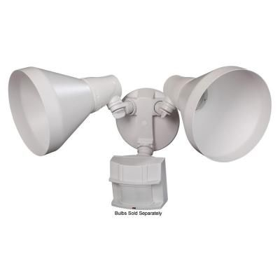 Defiant 180° Outdoor White Motion Security Light-DFI-5412-WH - The Home Depot