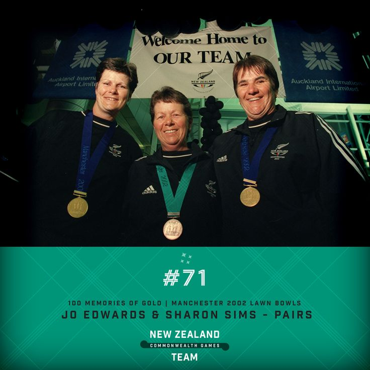 Golden Memory #71. Jo Edwards and Sharon Sims Lawn Bowls champions after winning gold at the 2002 Commonwealth Games held in Manchester. Really looking forward to watching this years Lawn Bowls competitions at the Commonwealth Games in Glasgow. New Zealand has a few new faces to the Lawn Bowls team and it will be great to watch and support them. #makingusproud #glasgow2014