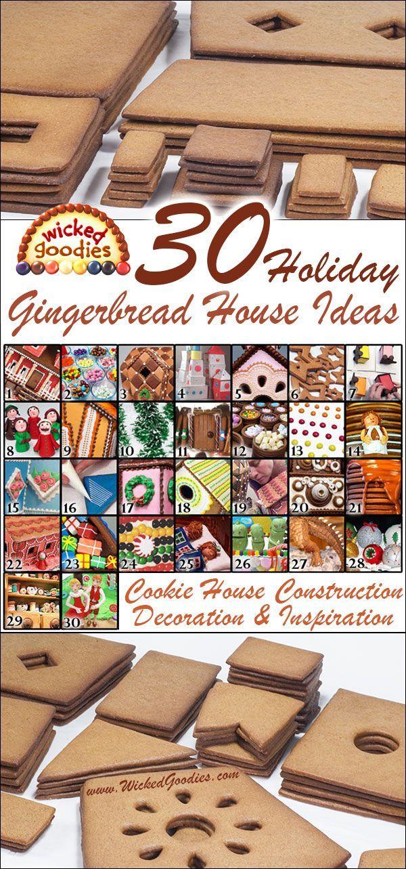 Wicked Goodies   30 Gingerbread House Ideas   http://www.wickedgoodies.net