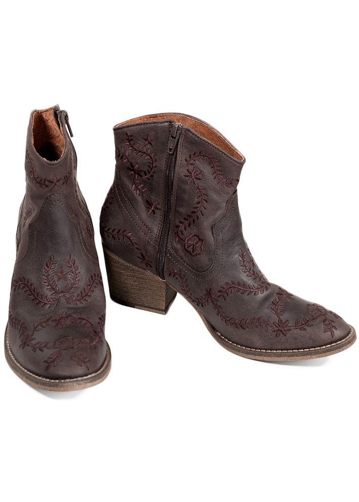 Støvler brune 10400365 Bea Cowboy Boot - dark brown - Acorns
