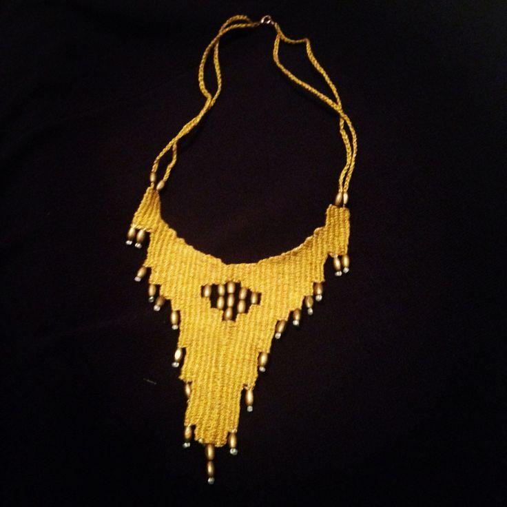 Basilica micro-weaving necklace