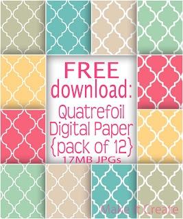 Free Quatrefoil Digital Paper Pack
