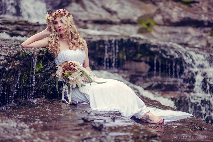 Wedding Photography - Tiny Wedding Co/Janellabelle Photo A waterfall bridal shoot styled and shot by myself Janellabelle Photo Model - Gia Olichny