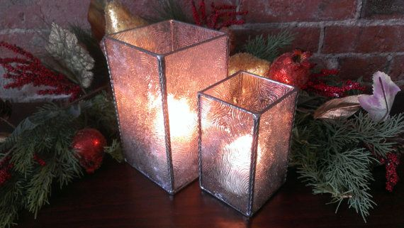 """Stained Glass Candle Holder / Hurricane: """"The Melanie"""" (Small) on Etsy, $40.00"""