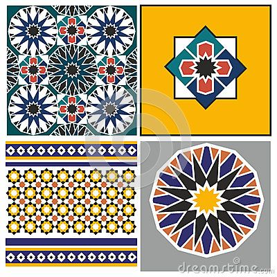 Arabic pattern design - 4 x example inspiration