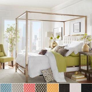 retro glitz quatrefoil queen canopy bed shopping the bestu2026