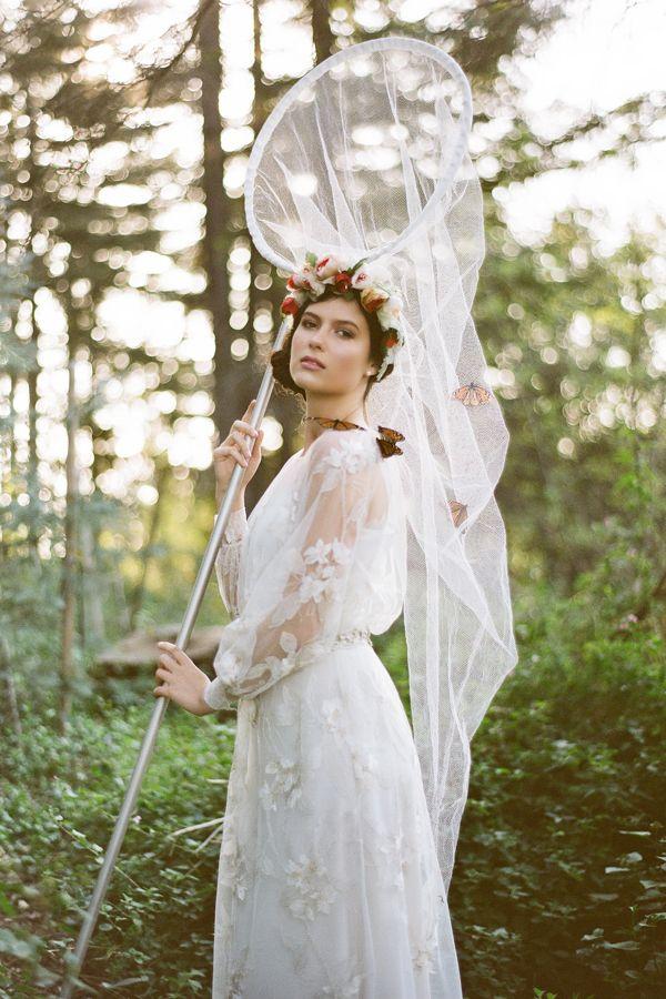 butterfly wedding ideas butterfly net for victorian lady