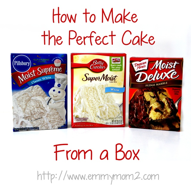 How To Make The Perfect Cake- From A Box Mix! Great