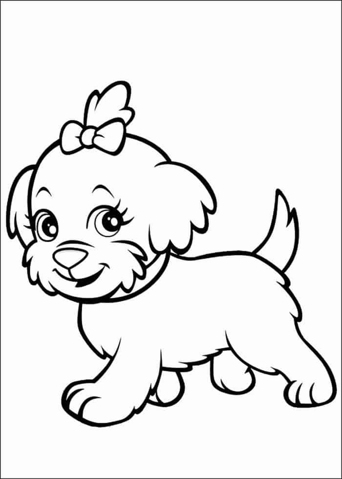 Puppy Coloring Pages Cute In 2020 Puppy Coloring Pages Dog Coloring Book Dog Coloring Page
