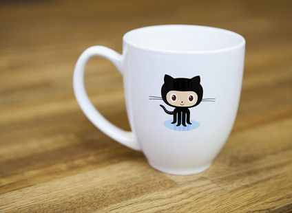The mug you've been dreaming about. Octocat on one side, GitHub logo on the other. One sip from this ceramic 16oz fluid delivery system and you'll never go back to red cups.