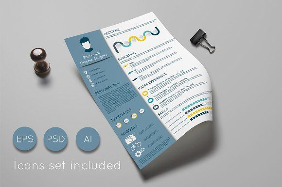 Resume template and Cover letter by PixmassStudio on @creativemarket
