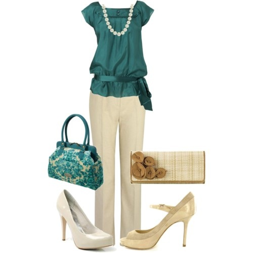 gorgeous: Shoes, Work Clothing, Color Combos, Shirts, White Pants, Work Outfits, Closet, Style Clothing, Church Outfit