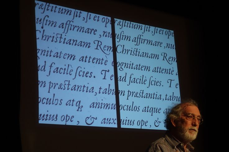 Paul Shaw, an award-winning designer, typographer and design historian based in New York City, speaking at the Arts & Letters Club in Toronto, March 2017. Credit: Don McLeod.