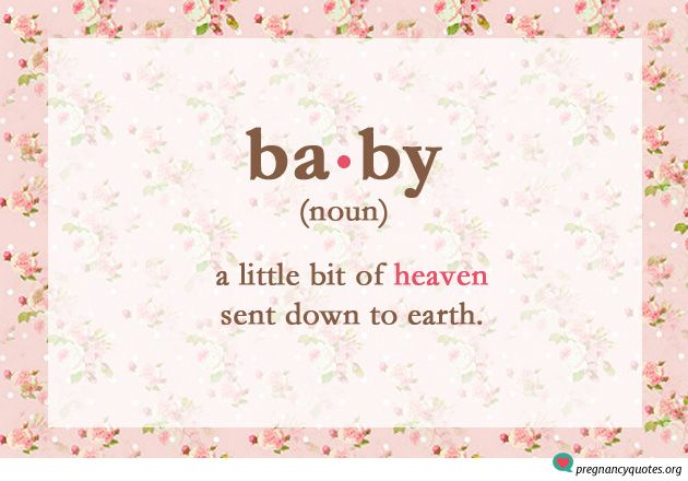 """Baby, Noun"" - cute quotes about pregnancy on floral background"