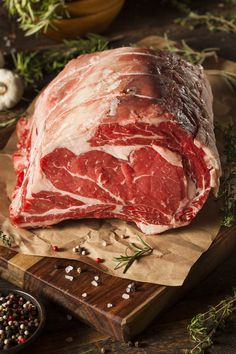 Prime rib, also known as a standing rib roast, is the undisputed crème de la crème when it comes to a large cut of beef
