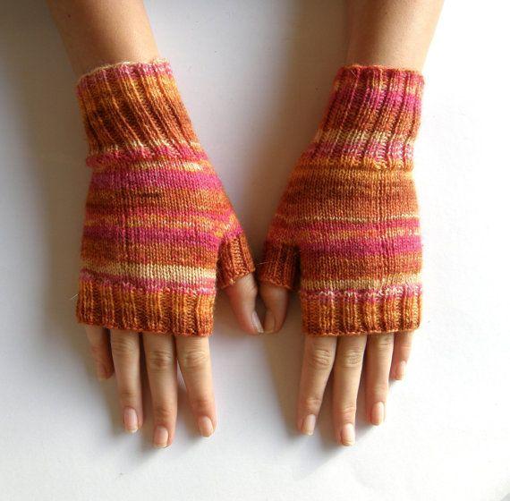Vingerloze wanten  handschoenen van Carolinevantveer op Etsy