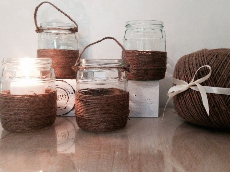 Juuttinarusta on moneksi #jute #lantern #diy