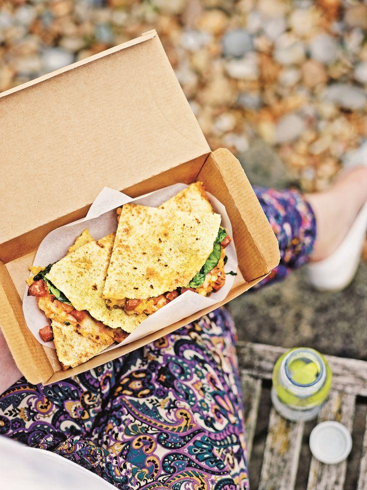 Sweet potato & chorizo quesadilla from 'Love Your Lunchbox