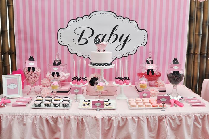 pink and white baby shower ideas   Pink, White and Black Baby Shower © Copyright studiocake.com.au 2013