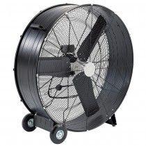 "Genuine Draper high velocity drum fan with a 36"" diameter"