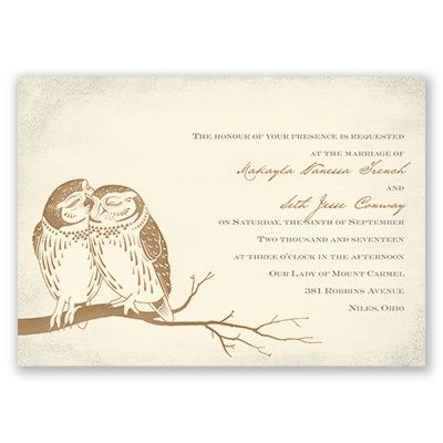Owl Be Yours Wedding Invitation - Ecru | Invitations by Dawn at Invitations By Dawn