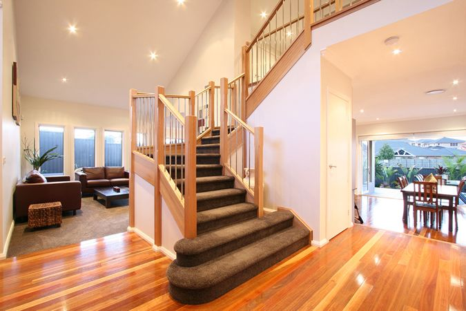 Benchmark Homes and Timber Floors Pty Ltd create a stunning entrance by Timber Floors Pty Ltd Ph 02 9756 4242