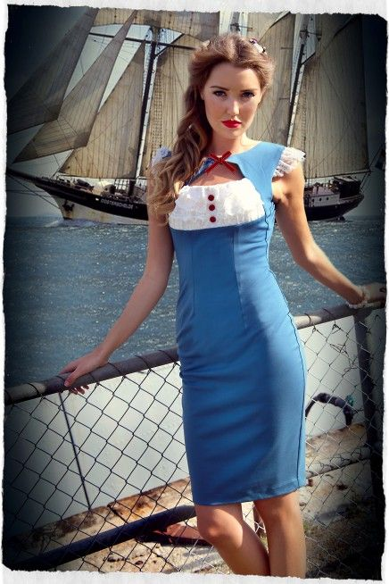 Kitten D'Amour - Aye Aye Kitten Peekaboo Wiggle Dress