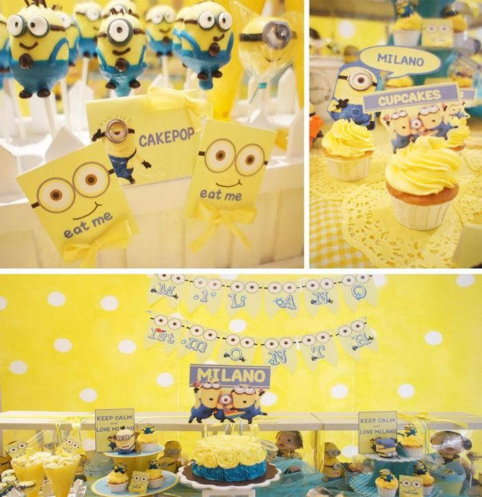 Despicable Me Party Theme Birthday Baby Shower Yellow Boy Girl Kids Minions: Ideas Parties, Birthday Parties Theme, Parties Ideas, Minions Parties, Despicable Me, Minions Birthday, Birthday Kids, Baby Shower, Birthday Ideas