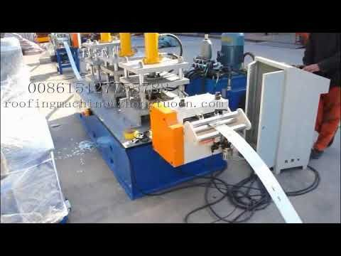 Garage door rail slidding rolling forming machine