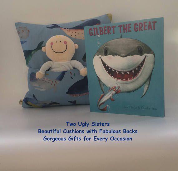 Child's Cushion Book Cushion Whale Cushion Cover Child
