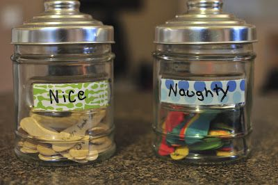 Creative consequences and Rewards - naughty and nice jars....This is awesome Mandy! We have to do this!!!