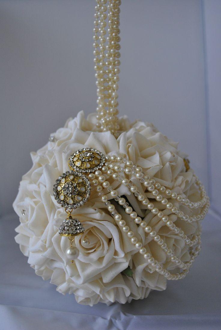 White Pearl Bridal Pomander