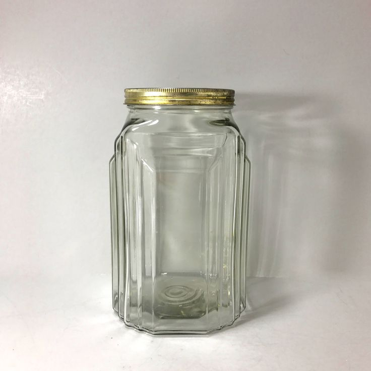 Antique Necco Candies Store Display Jar with Tin Lid, Empire Hoosier Canister, Art Deco, Heavy Large Clear Glass Counter Jar, Advertising by littlewoodenhouse on Etsy