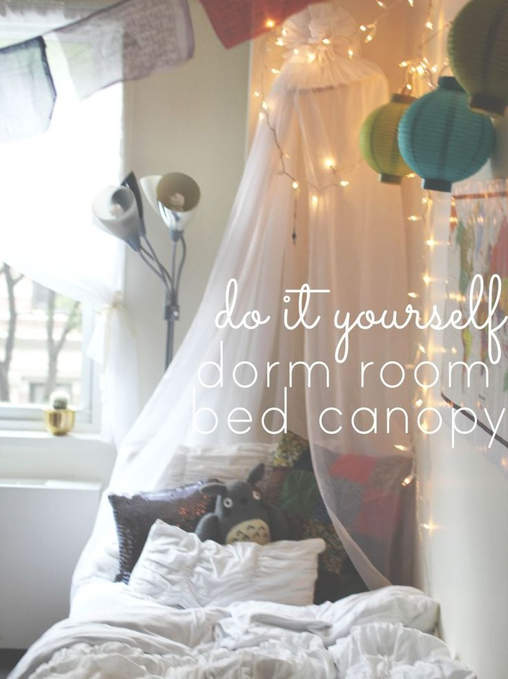 Decorating Ideas > 17 Best Ideas About Dorm Bed Canopy On Pinterest  Dorm  ~ 100352_Dorm Room Diy Canopy