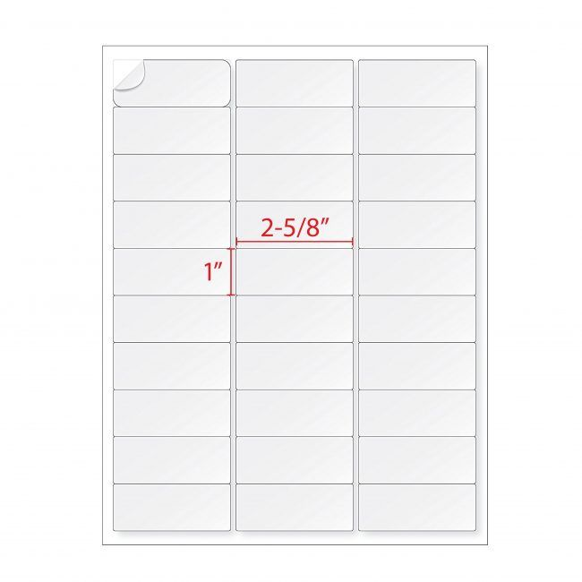 1 X 2 5 8 Labels 30 Address Labels 5160 Per Sheet Address Labels Custom Label Design Sticker Labels
