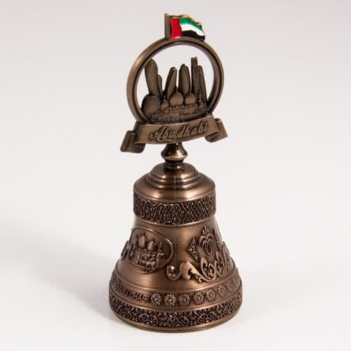 Decorative Bell: United Arab Emirates. Abu Dhabi Attractions (Bronze Color)
