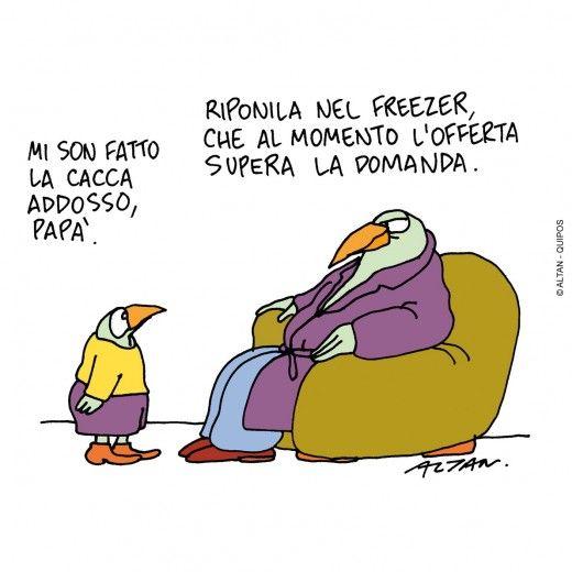 Altan, in mostra le vignette sulla crisi