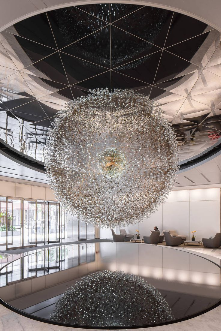 Giant Dandelion Made of Hand-Blown Glass Orbs