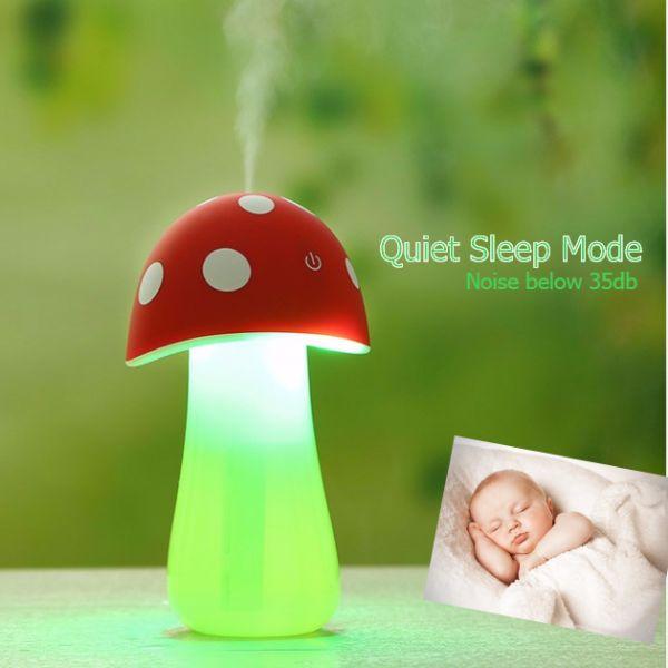 2016 Mini Humidifier and LED Night Light Mist Maker Air Diffuser USB