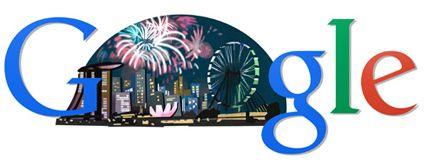 Google Doodles singapore National day 2014  aug 9