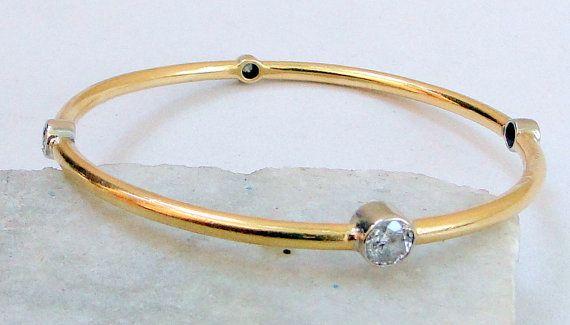 vintage antique solid 18 K gold Diamonds bangle by TRIBALEXPORT, $9550.00 www.tribalexport.com