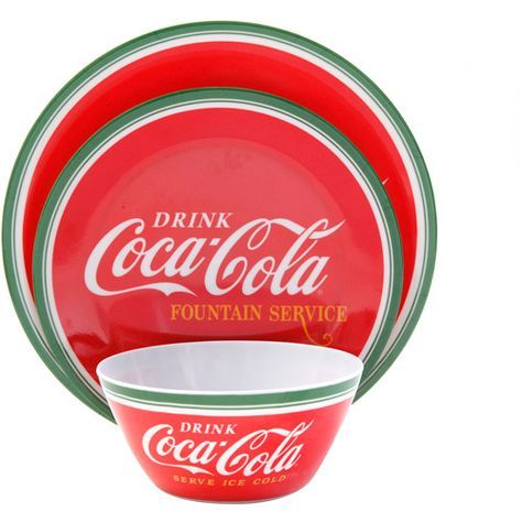 Classic Coca Cola 12-Piece Dinnerware Set