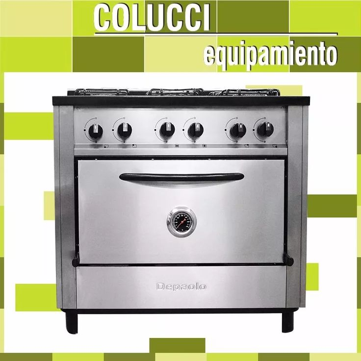 cocina industrial depaolo 5 hornallas 90 cm horno pizzero