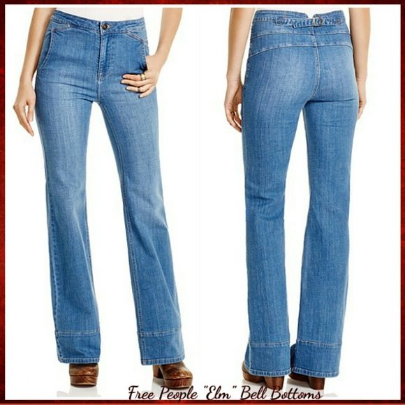 """Free People wide leg jeans, 70's retro, comfy Reinvent your off-duty silhouette with Free People's wide leg jeans, a retro-cool cut with fresh, flattering appeal. They are also very comfy!!   ~~Oh yeah I will keep rather than lose $ on these!!   Zip fly with button closure, belt loops, buckle adjuster at back waist, side slit pockets, high-rise ~~Contrast stitching, gold-tone hardware, light fading ~~10"""" rise, 31' inseam, 12"""" leg opening ~~Cotton/spandex ~~Machine wash ~~Imported  Thank you…"""